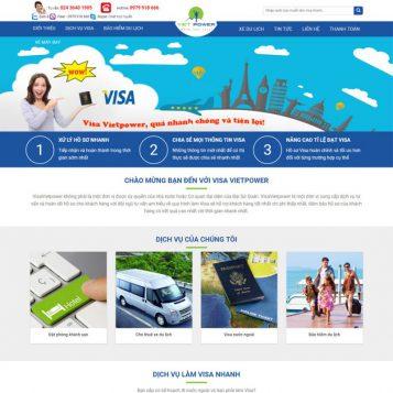 Mẫu Web dịch vụ visa